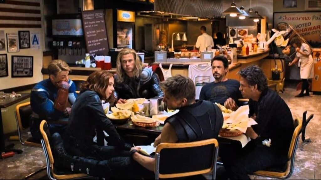 Avengers' shawarma scene was shot after the film's premiere !