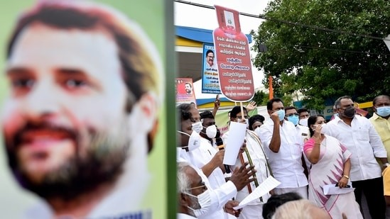 'Rahul Gandhi must answer': Minister on fuel price hikes in Congress states