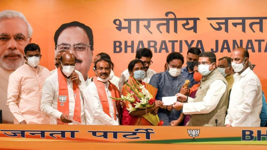 Sacked Telangana health minister joins BJP, vows to expand BJP footprints in South