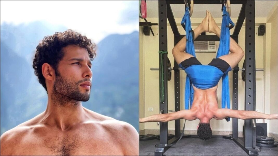 Siddhant Chaturvedi defies gravity, aces inverted pigeon pose during aerial Yoga