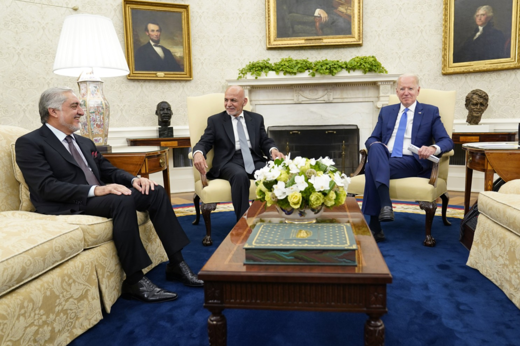 Biden tells Afghan leaders 'your country's fate in your hands now'